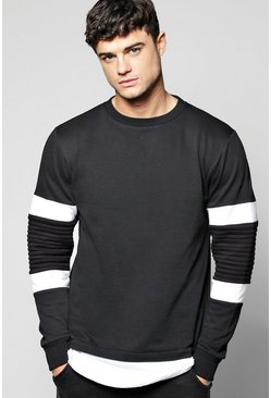 Colour Block Biker Sweatshirt