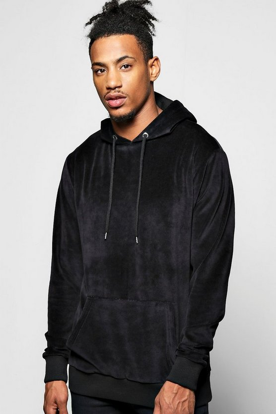 Over The Head Velour Hoodie