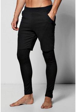 2 Pack Skinny Fit Lounge/Short Meggings