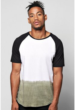 Raglan T Shirt In Dip Dye