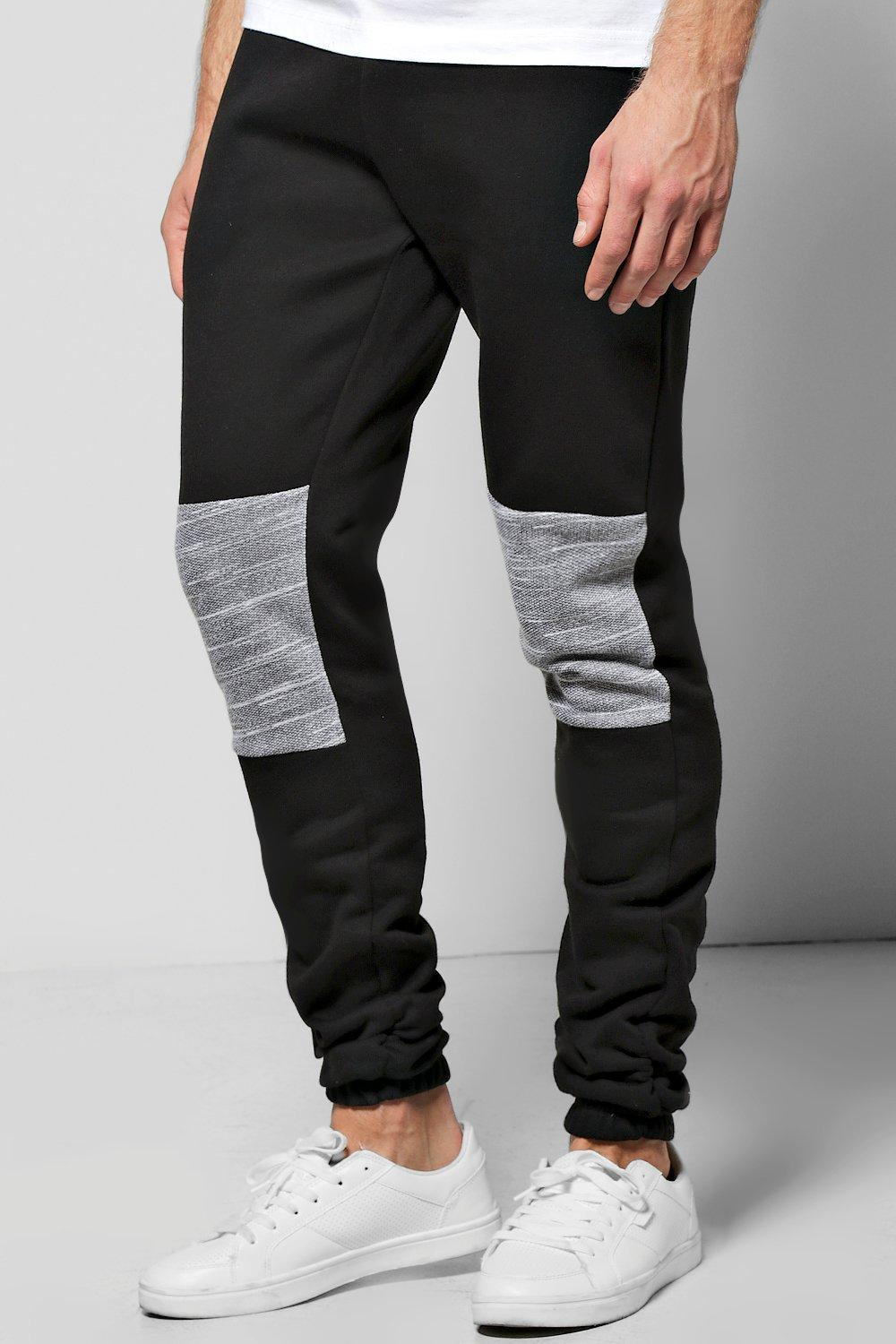 Skinny Fit Ruched Panelled Joggers