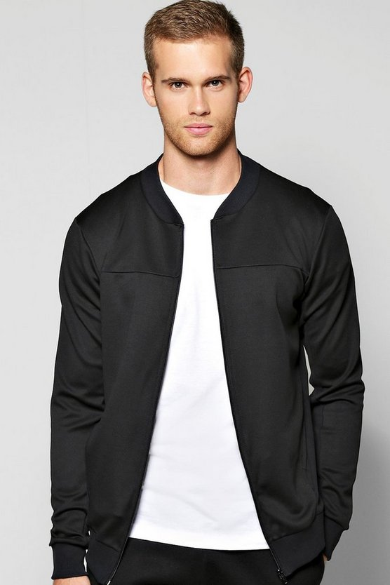 Poly Bomber With Ribbed Side Panels