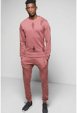 Skinny Fit Sweat Tracksuit