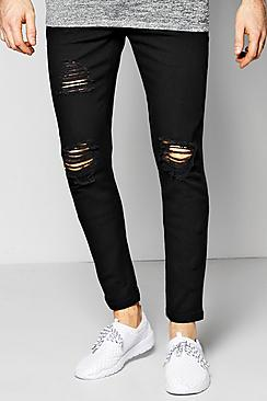 Skinny Fit Stretch Destroyed Knee Jean