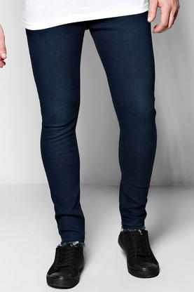 Super Skinny Fit Jeans With Raw Hem