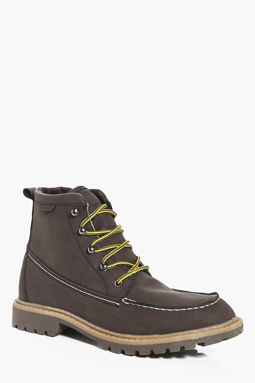 PU Hiking Boots With Borg Lining