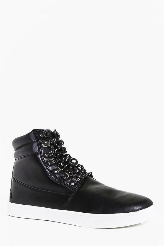 PU Boots With Contrast Soles