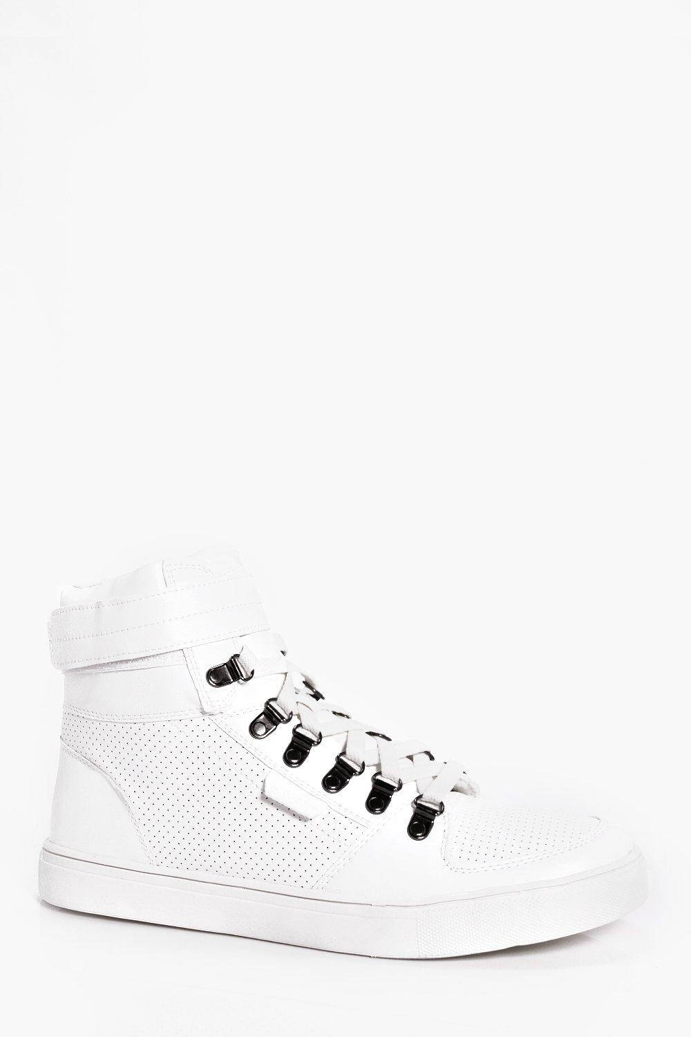PU Hi Top With Velcro Fastening