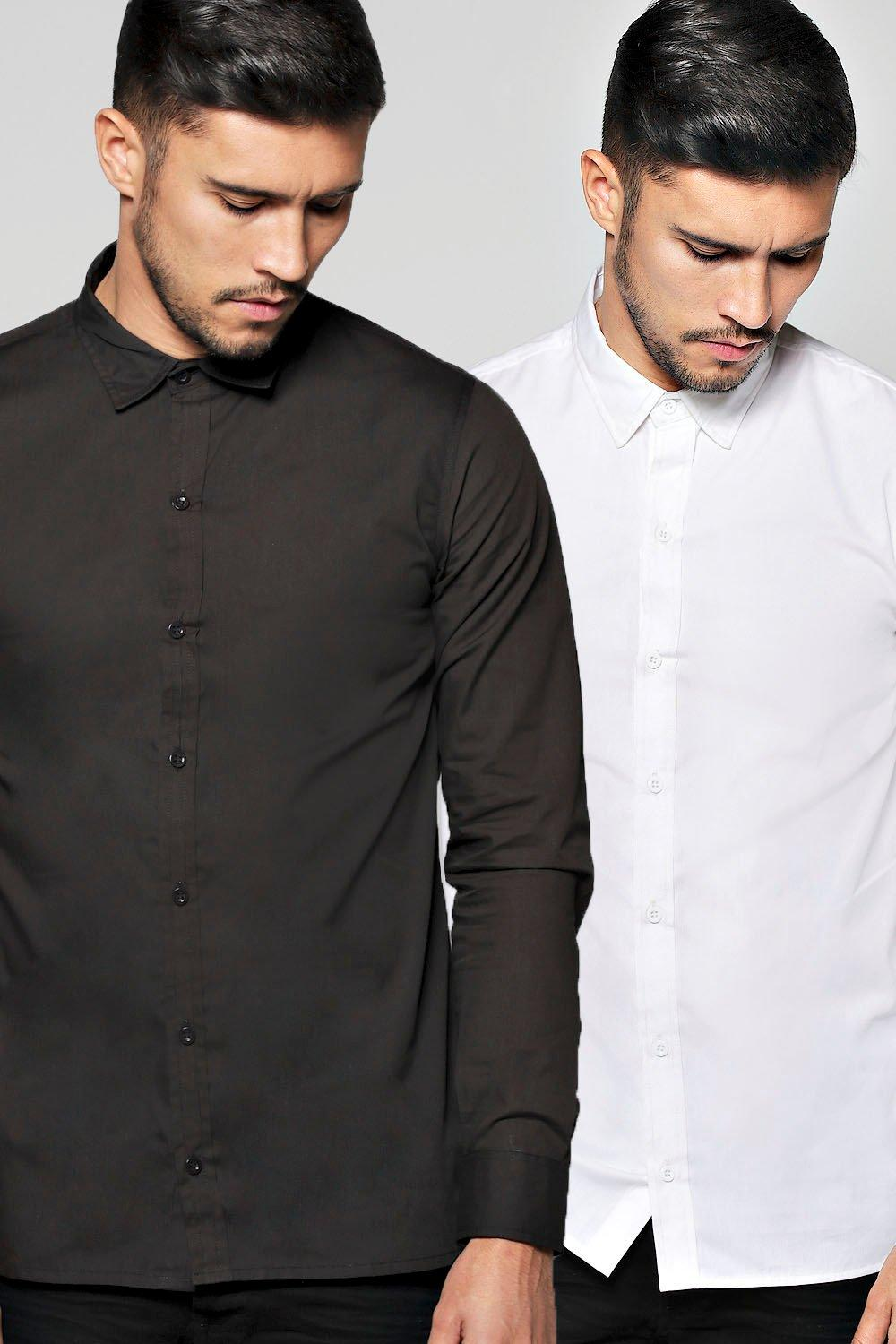 Twin Pack Long Sleeve Poplin Shirt