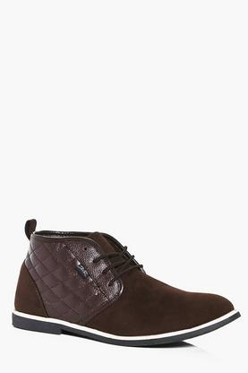 Pu Padded Smart Suedette Desert Boot