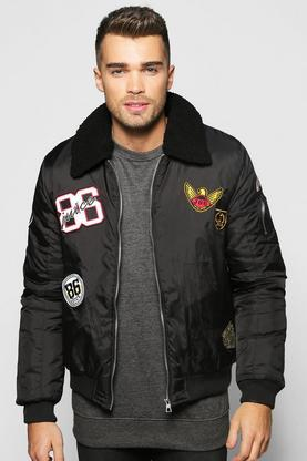 Badged Borg Collar MA1 Bomber