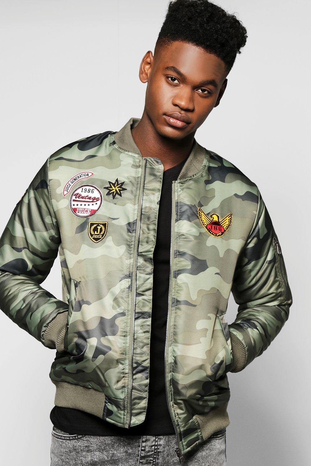 Camo Badged MA1 Bomber