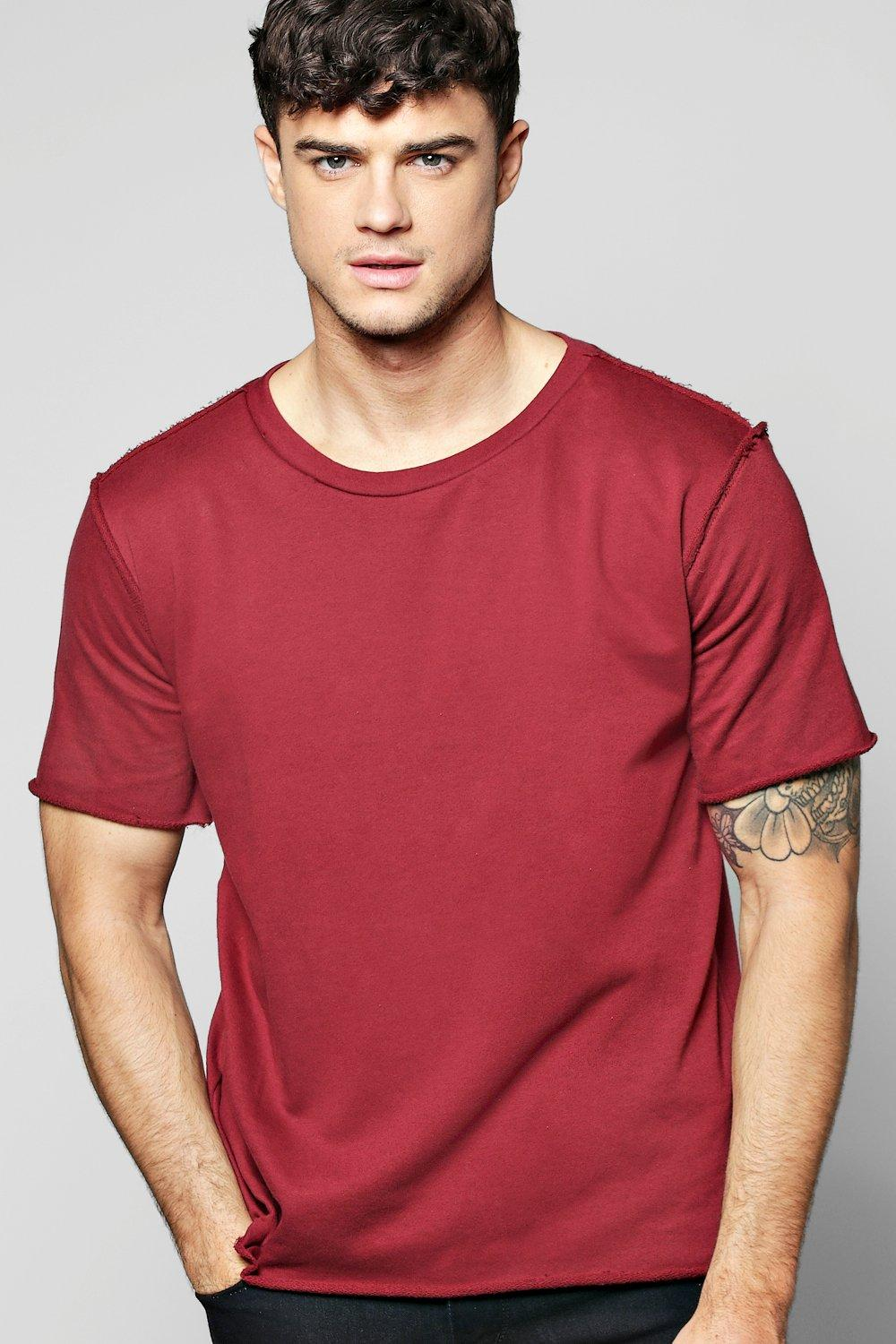 Oversized Woven Raw Edge T-Shirt