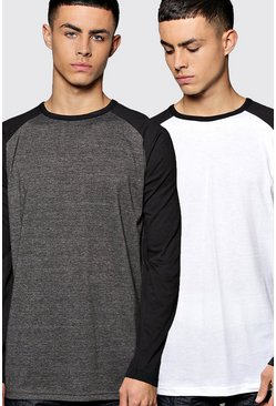 Long Sleeve Raglan T Shirt 2 Pack