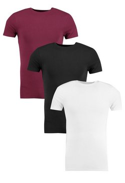 3 Pack Muscle Fit T Shirt