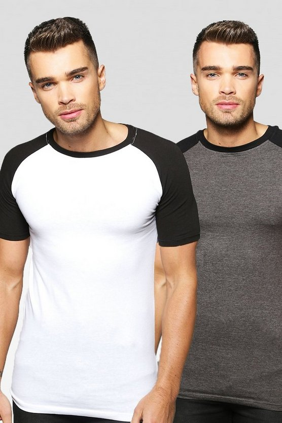 2 Pack Muscle Raglan T Shirt