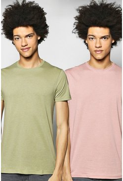 2 Pack Crew Neck T Shirts