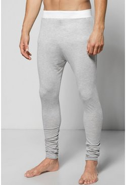 Contrast Waistband Cuffed Meggings
