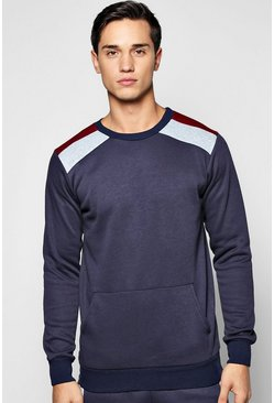 Colour Block Crew Neck Sweatshirt