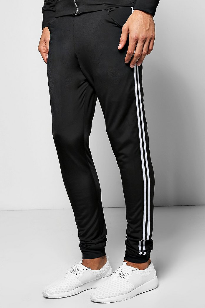 Skinny Poly Tricot Panel Joggers