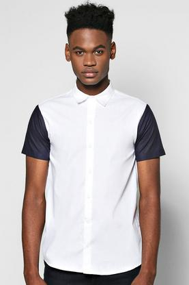 Contrast Short Sleeve Shirt