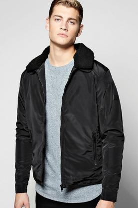 Borg Collar Padded Harrington