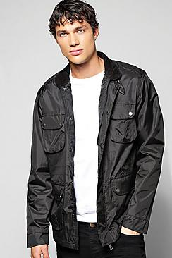 Multi Pocket Zip Front Harrington