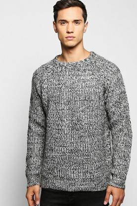 Brushed Fisherman Cable Knit Sweater
