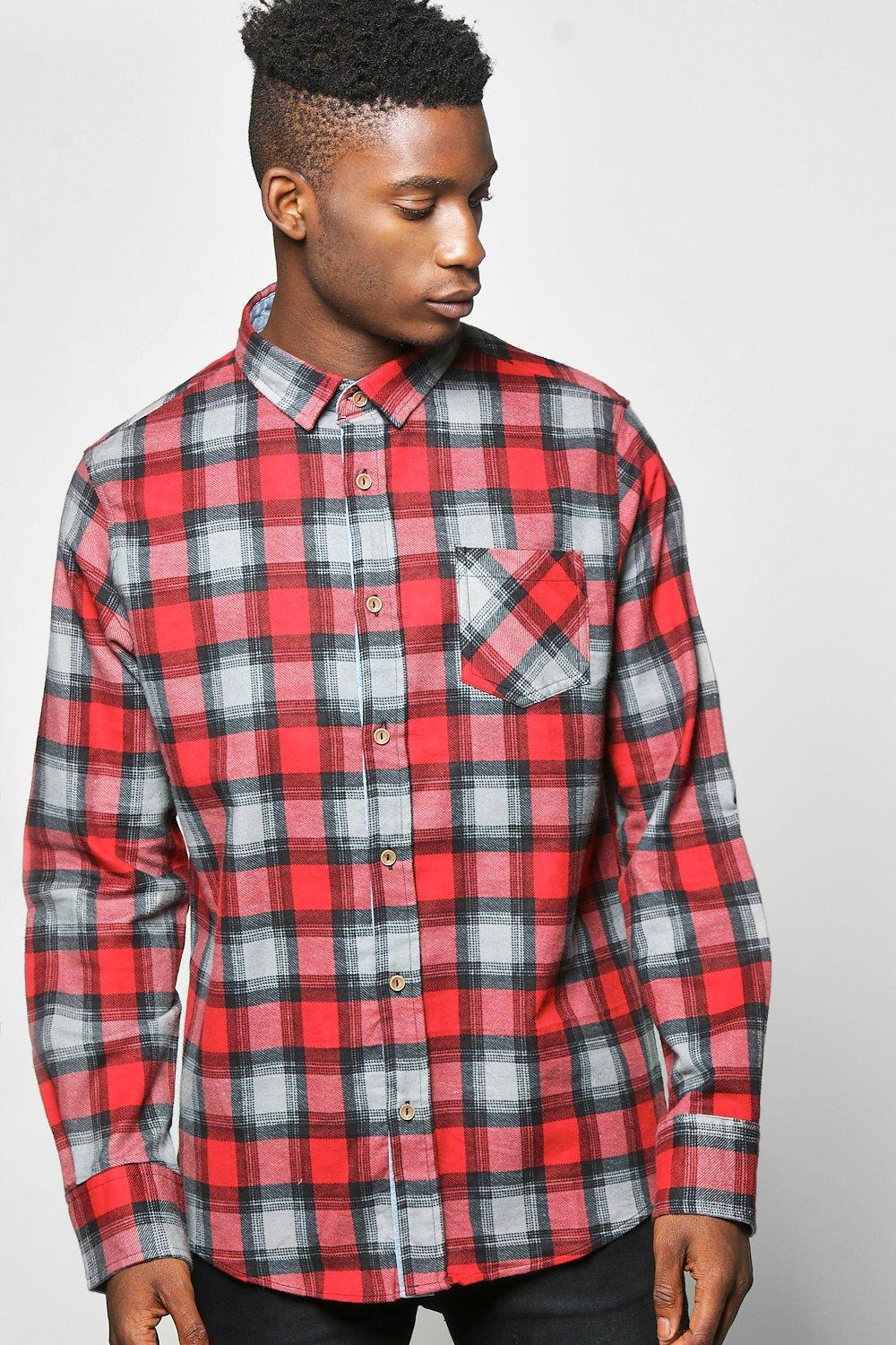 Long Sleeve Heavy Brush Check Shirt