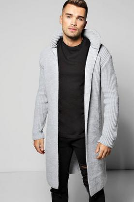 Smart Heavy Knitted Cardigan With Pocket