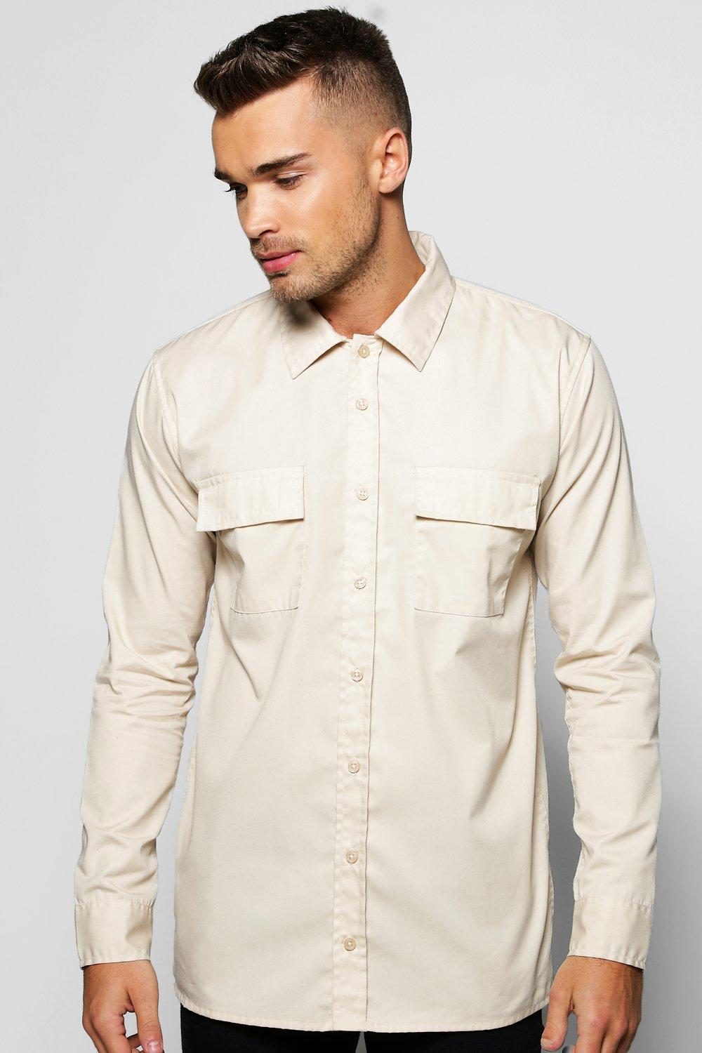 Military Pocket Slim Fit Shirt