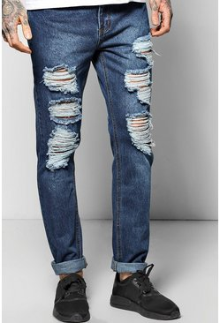 Skinny Fit Jeans With Extreme Rips