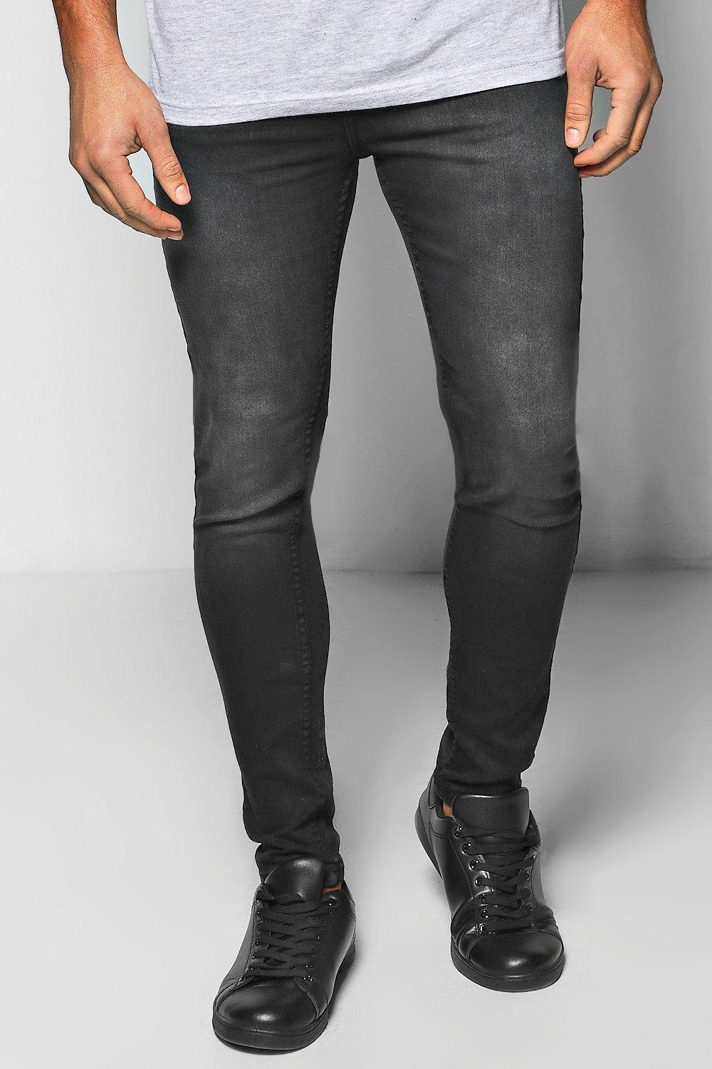 Washed Black Skinny Fit Jeans