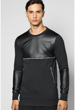 Longline Sweatshirt With Zip