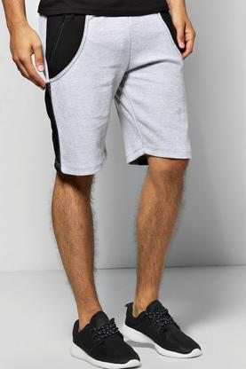 Pique Colour Block Jersey Shorts