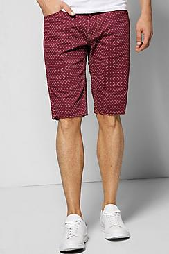 Polka Dot Print Chino Shorts