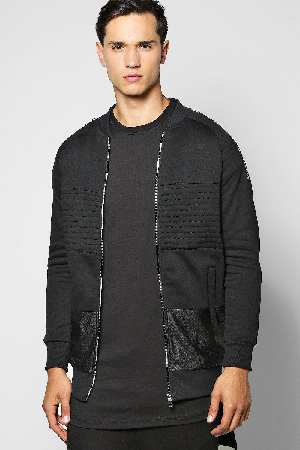 Biker Bomber With Zip Detail