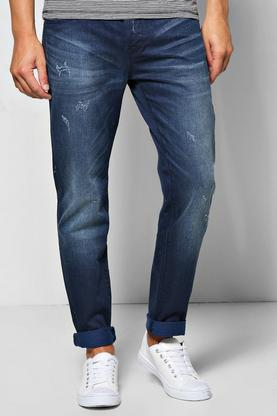 Skinny Distressed Dark Wash Jean