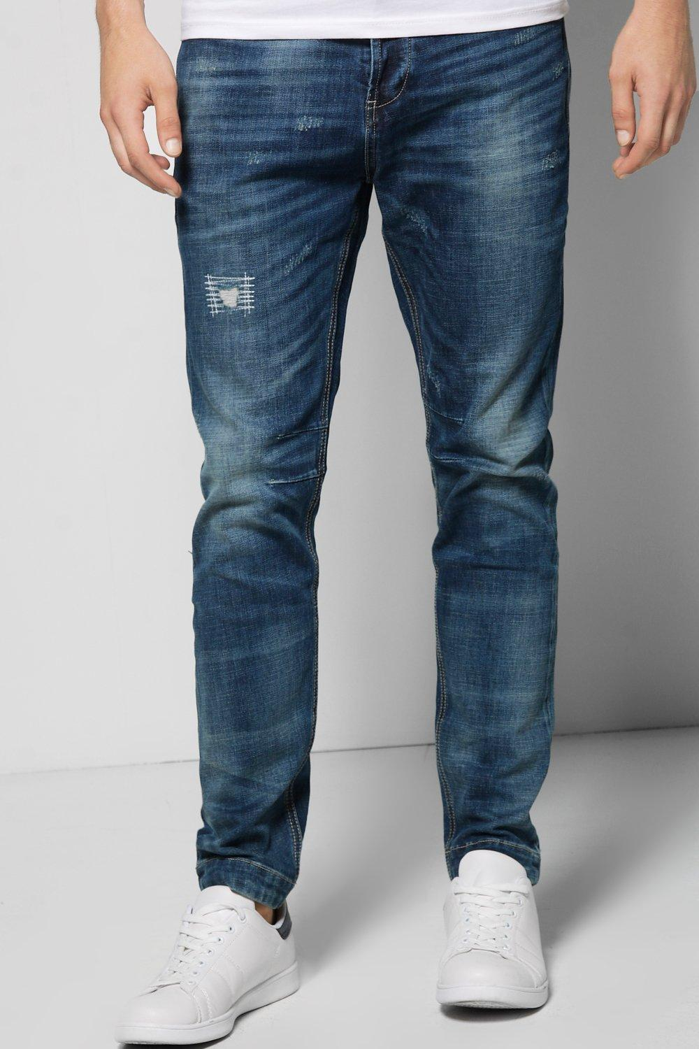 Skinny Fit Mid Washed Jean