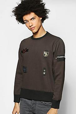 Badged MA1 Zip Sweatshirt
