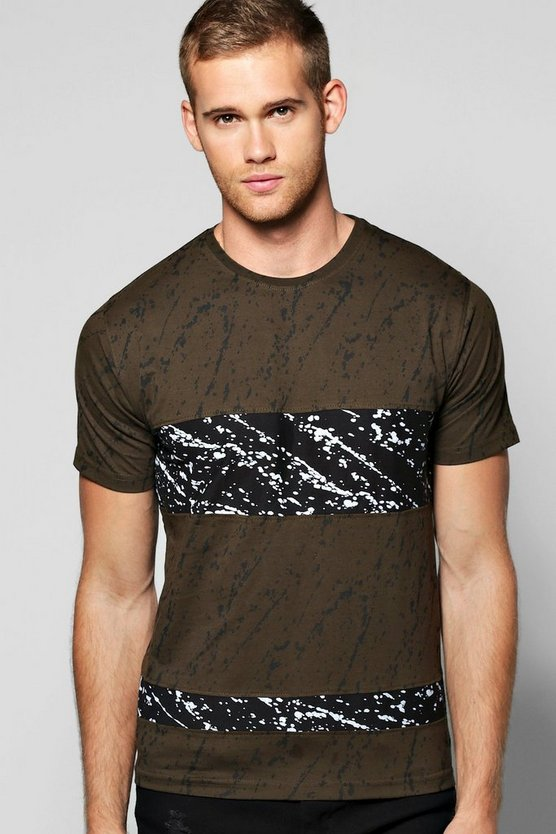 Skater Dip Dye T Shirt With Hem