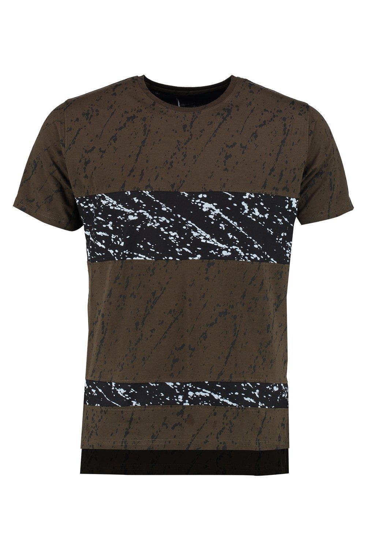 Boohoo mens quincy skater dip dye t shirt with hem ebay for Mens dip dye shirt