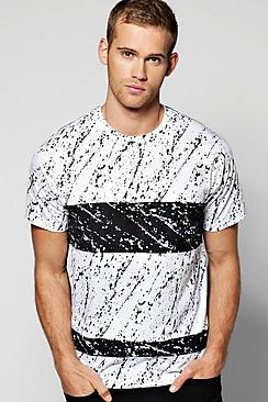 Quincy Skater Dip Dye T Shirt With Hem