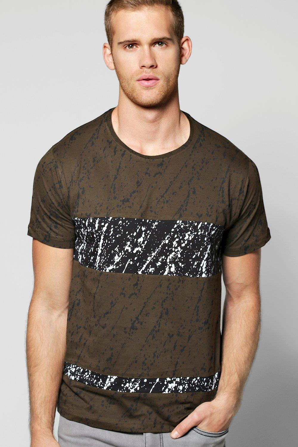 Splatter Panel Scoop Neck T-Shirt