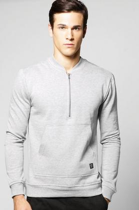 Bomber Neck Zip Sweater