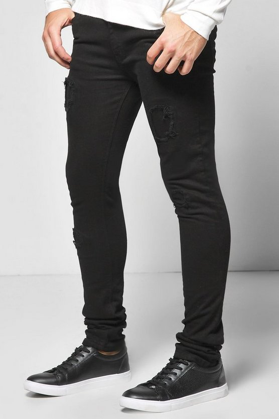 Super Skinny Rip & Repair Jeans