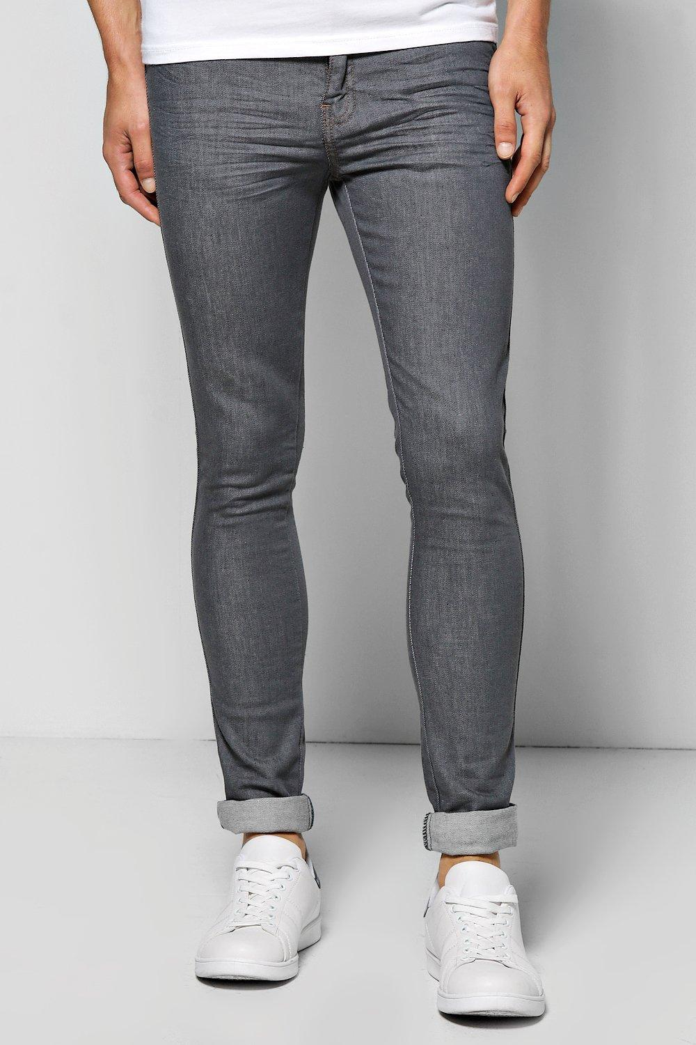 Super Skinny Grey Stretch Jeans