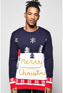 Yellow Snow Merry Christmas Jumper