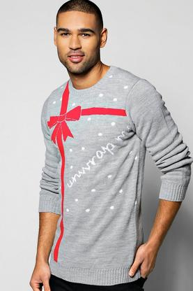 Unwrap Me Christmas Jumper