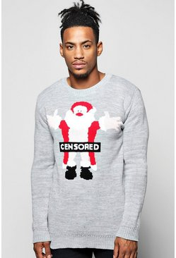 Censored Santa Christmas Jumper